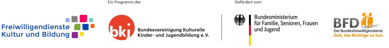 Logos Programm und Förderer BFD